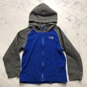 The North Face Fleece 4T Zip Up Hoodie Sweatshirt